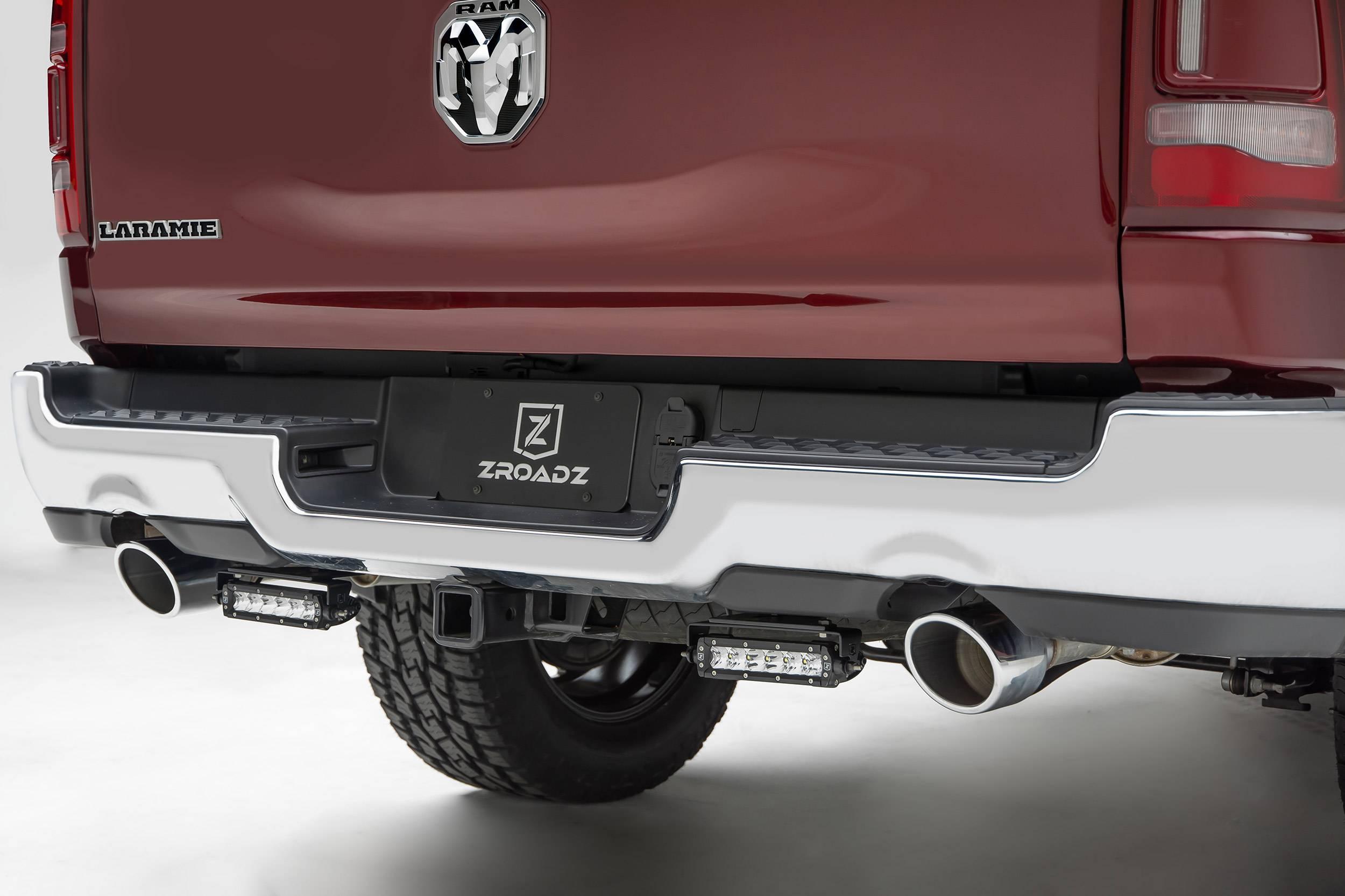 ZROADZ                                             - 2019-2021 Ram 1500 Rear Bumper LED Bracket to mount (2) 6 Inch Straight Single Row Light Bar - PN #Z384821