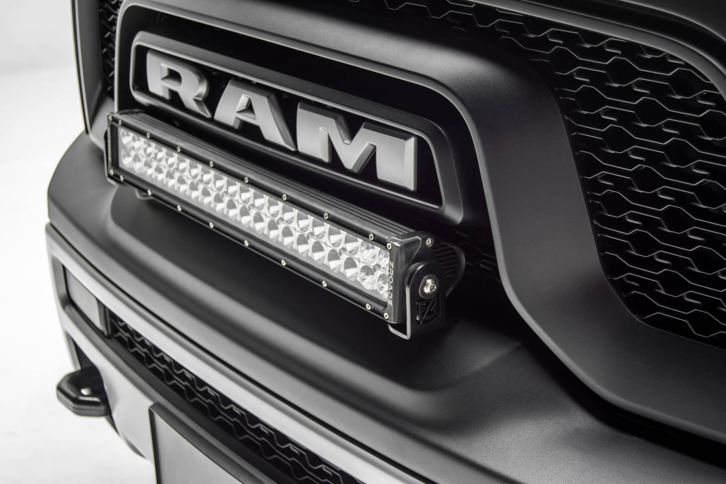 2015-2018 Ram Rebel Front Bumper Top LED Kit, Incl. (1) 20 Inch LED Straight Double Row Light Bar - PN #Z324552-KIT
