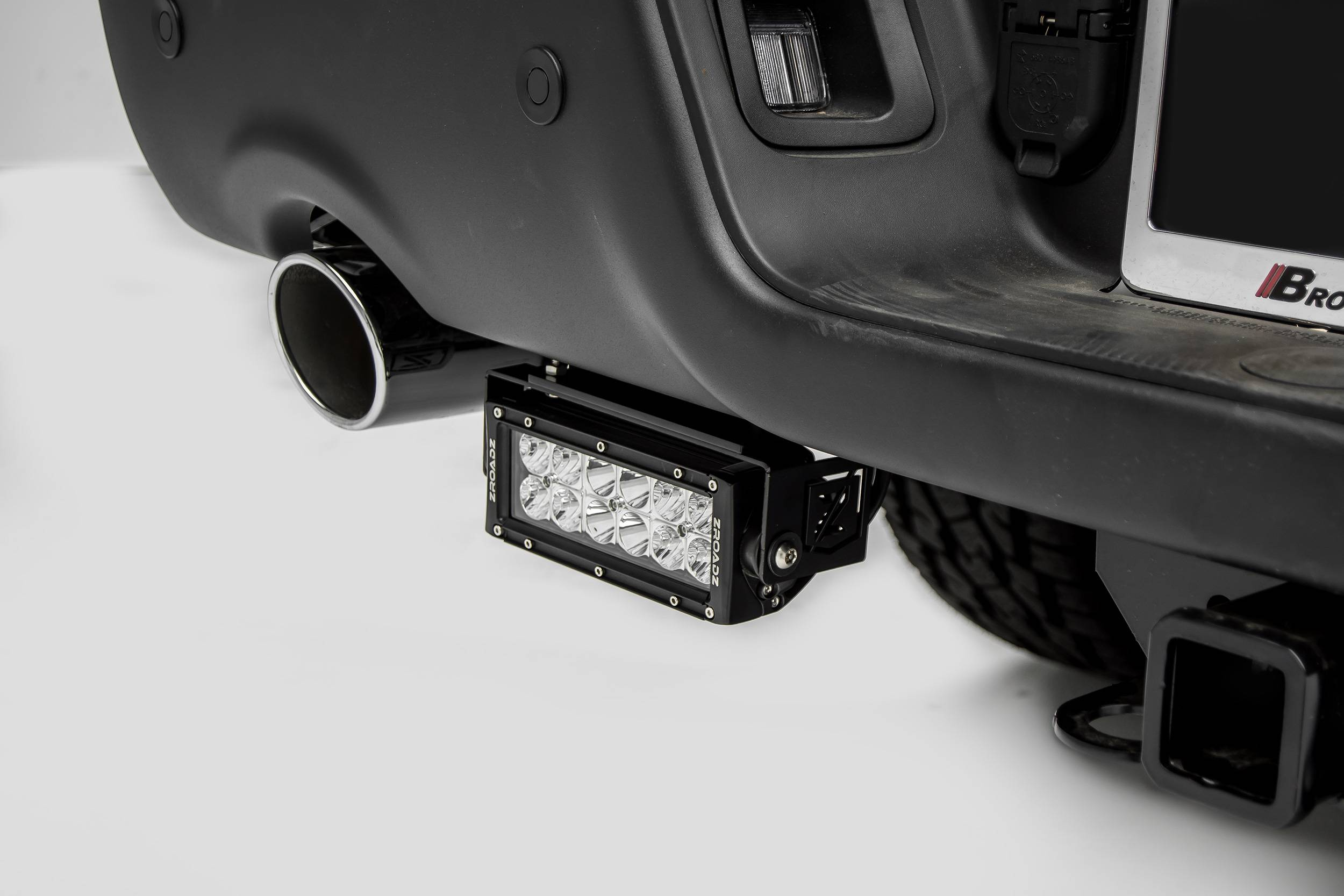 ZROADZ                                             - 2015-2018 Ram Rebel Rear Bumper LED Bracket to mount (2) 6 Inch Straight Light Bar - PN #Z384551