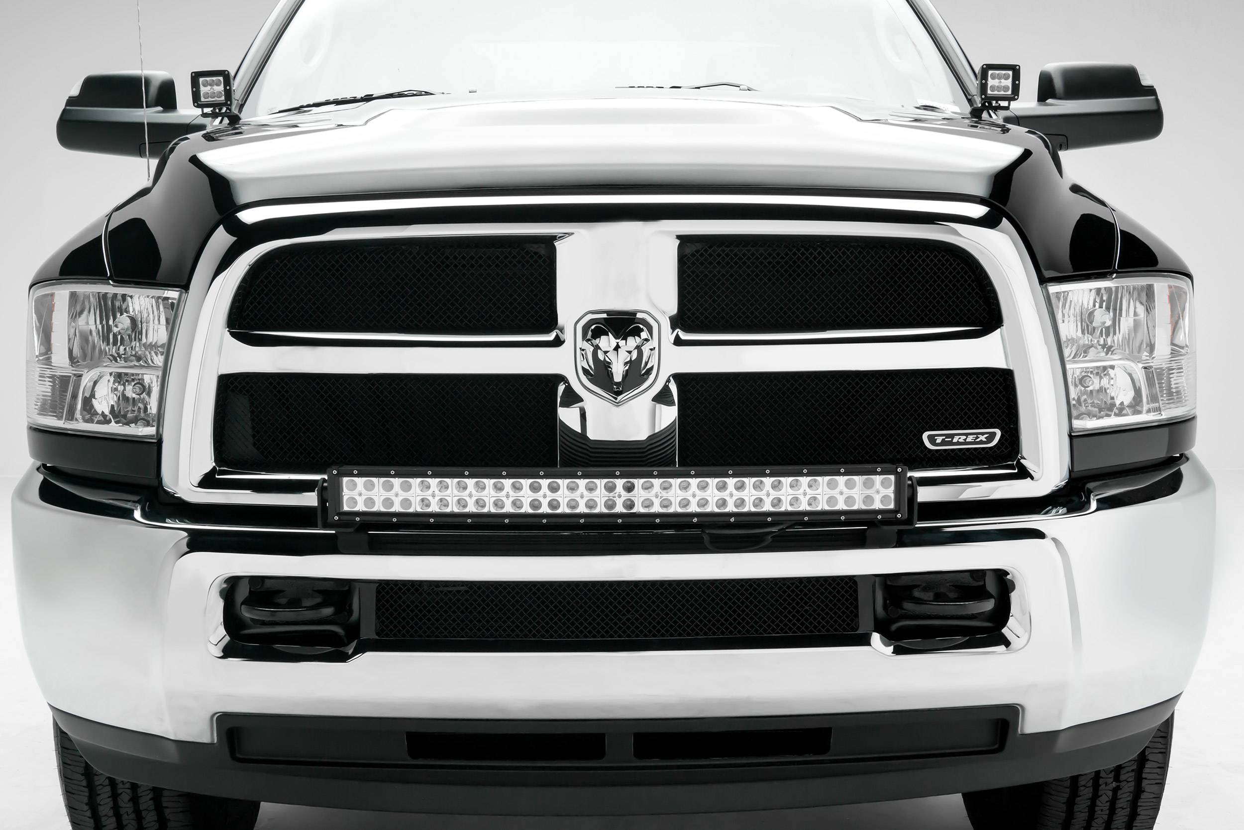 ZROADZ                                             - 2010-2018 Ram 2500, 3500 Front Bumper Top LED Kit with (1) 30 Inch LED Curved Double Row Light Bar - PN #Z324522-KIT