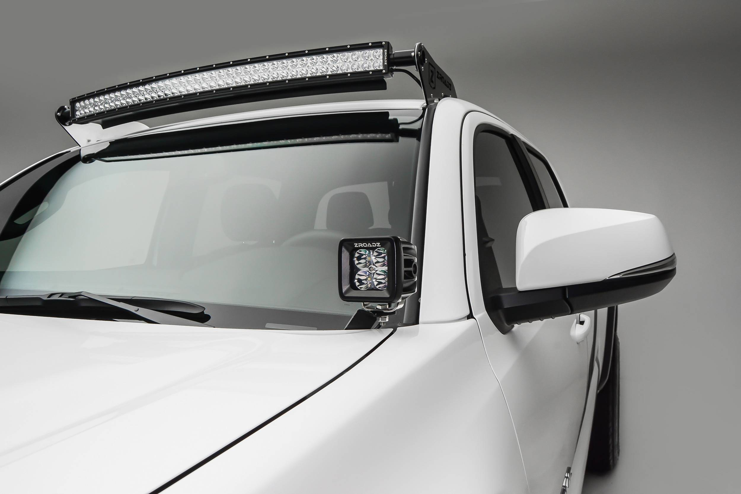 ZROADZ                                             - 2005-2021 Toyota Tacoma Front Roof LED Kit with 40 Inch LED Curved Double Row Light Bar - PN #Z339401-KIT-C