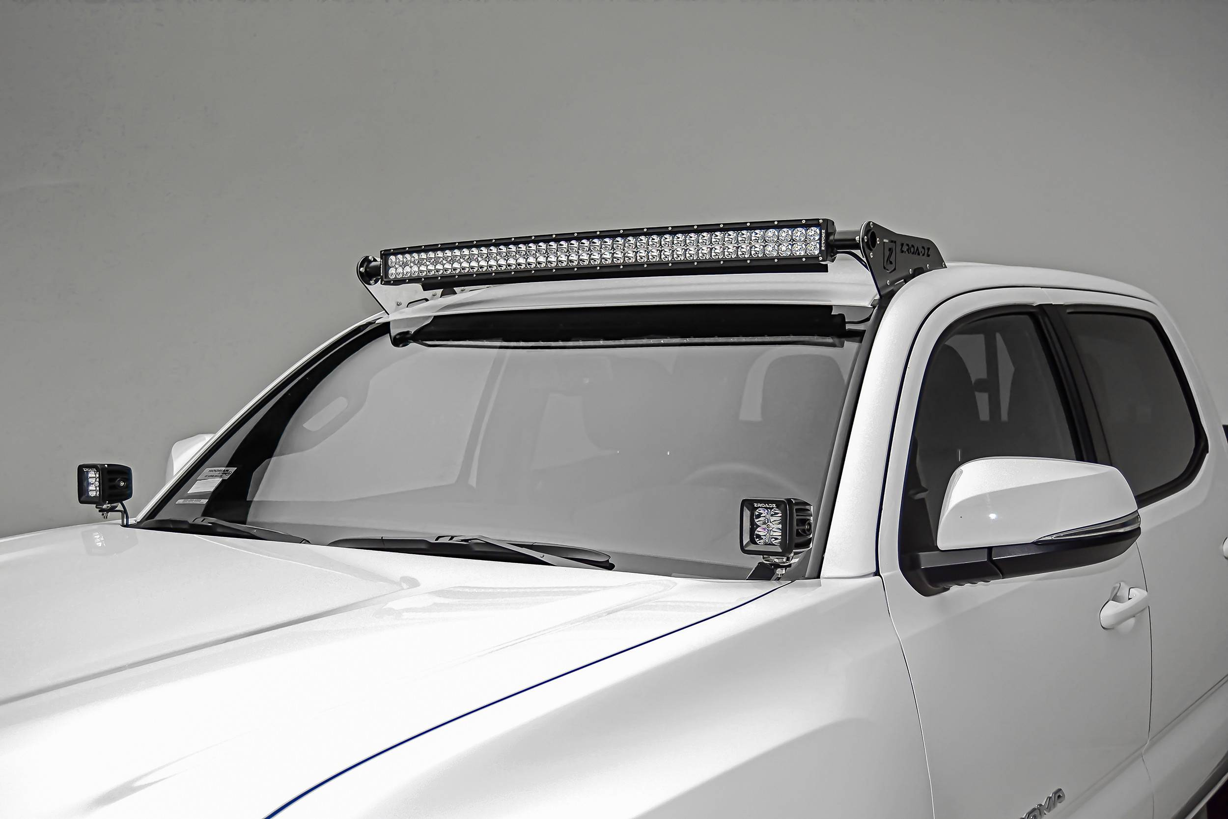 ZROADZ                                             - 2016-2020 Toyota Tacoma Hood Hinge LED Bracket to mount (2) 3 Inch LED Pod Lights - PN #Z369401