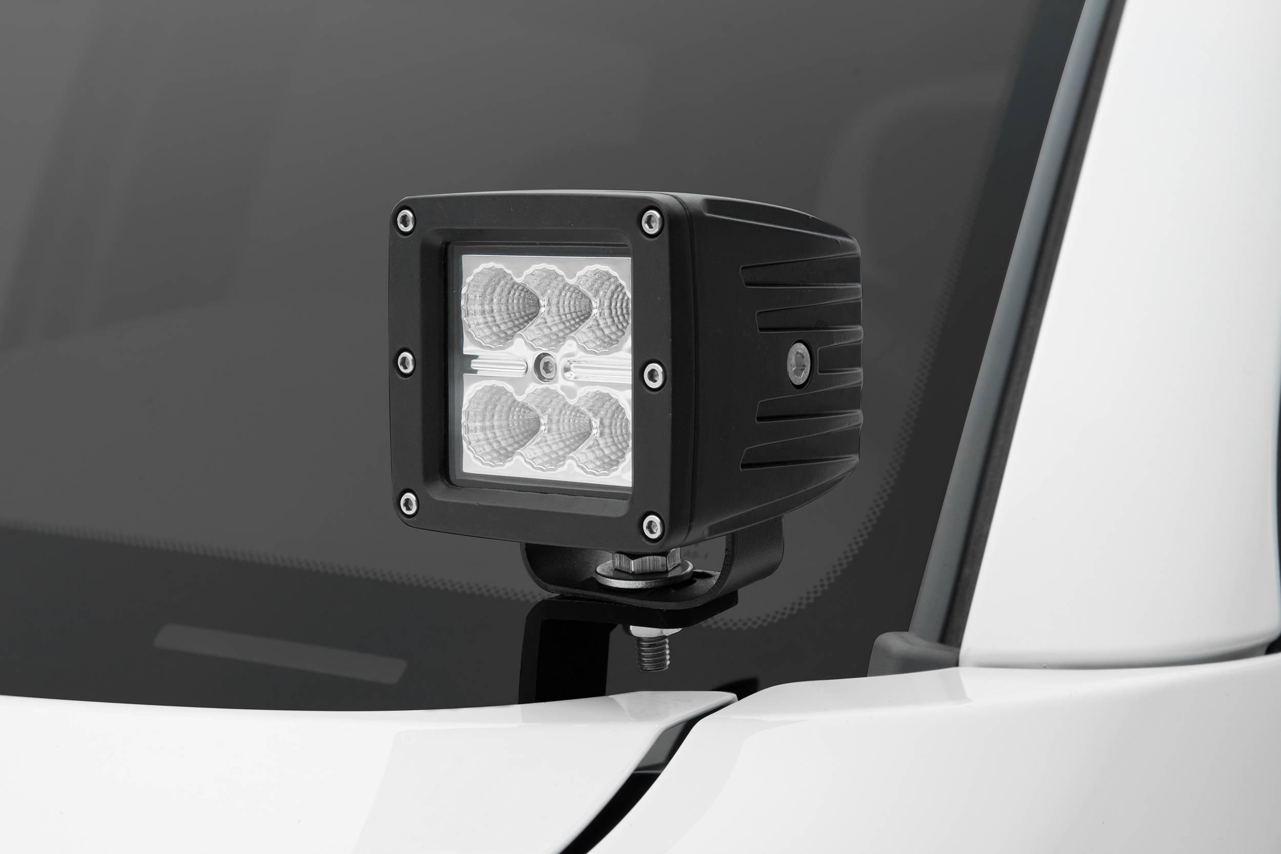ZROADZ                                             - 2005-2015 Toyota Tacoma Hood Hinge LED Kit, Incl. (2) 3 Inch LED Pod Lights - PN #Z369381-KIT2