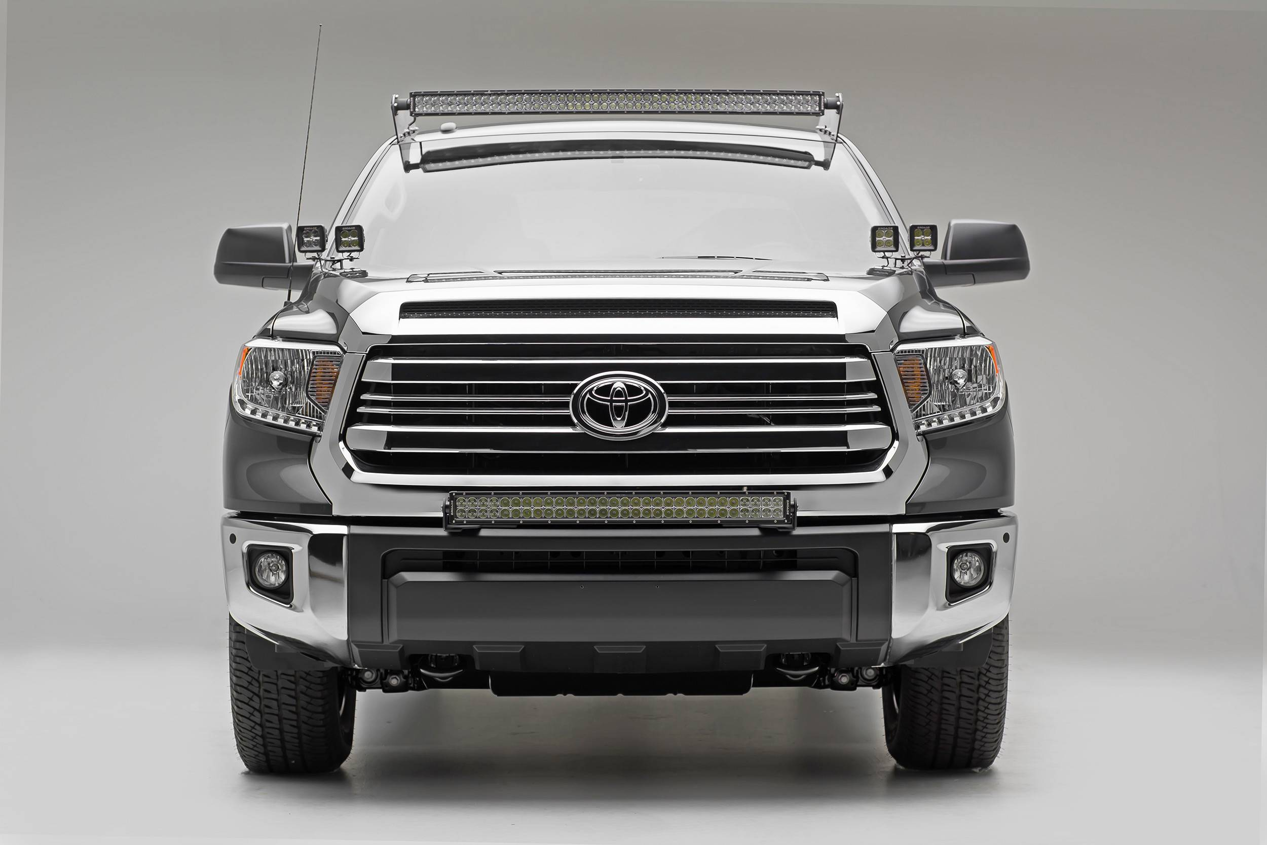 50INCH CURVED LED Light Bar Roof Top Mount Brackets For Toyota Tundra 07~2014