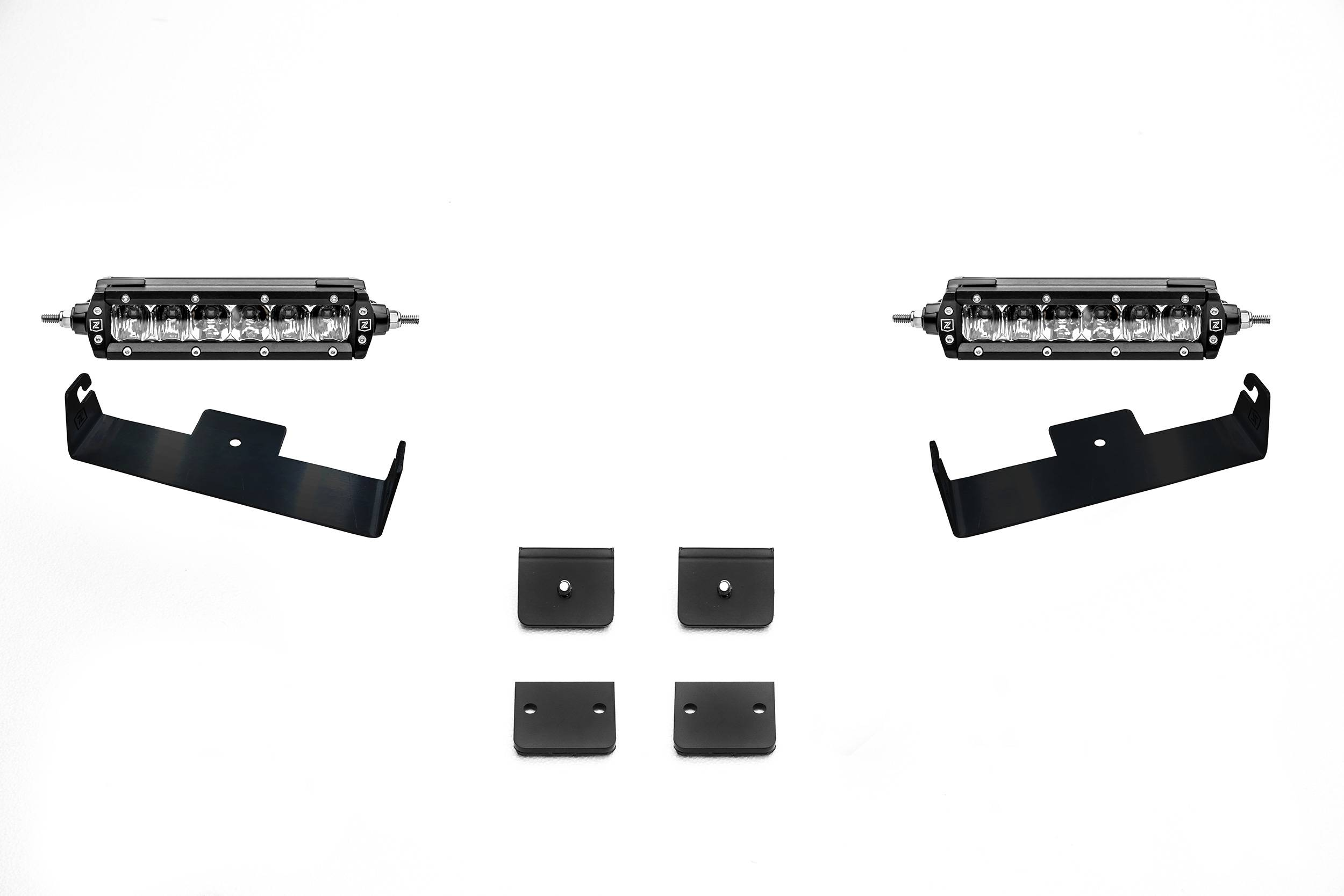 ZROADZ                                             - Universal Panel Clamp LED Kit with (2) 6 Inch LED Straight Single Row Slim Light Bars - PN #Z310006-KIT