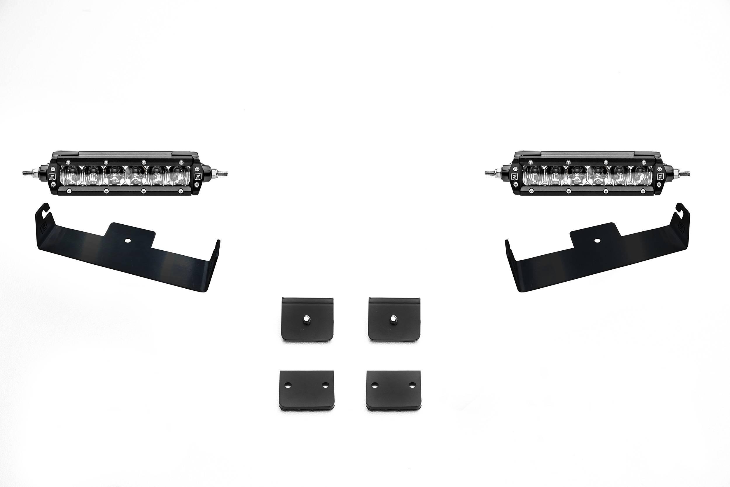 ZROADZ                                             - Universal Panel Clamp LED Kit, Incl. (2) 6 Inch LED Straight Single Row Slim Light Bars - PN #Z310006-KIT