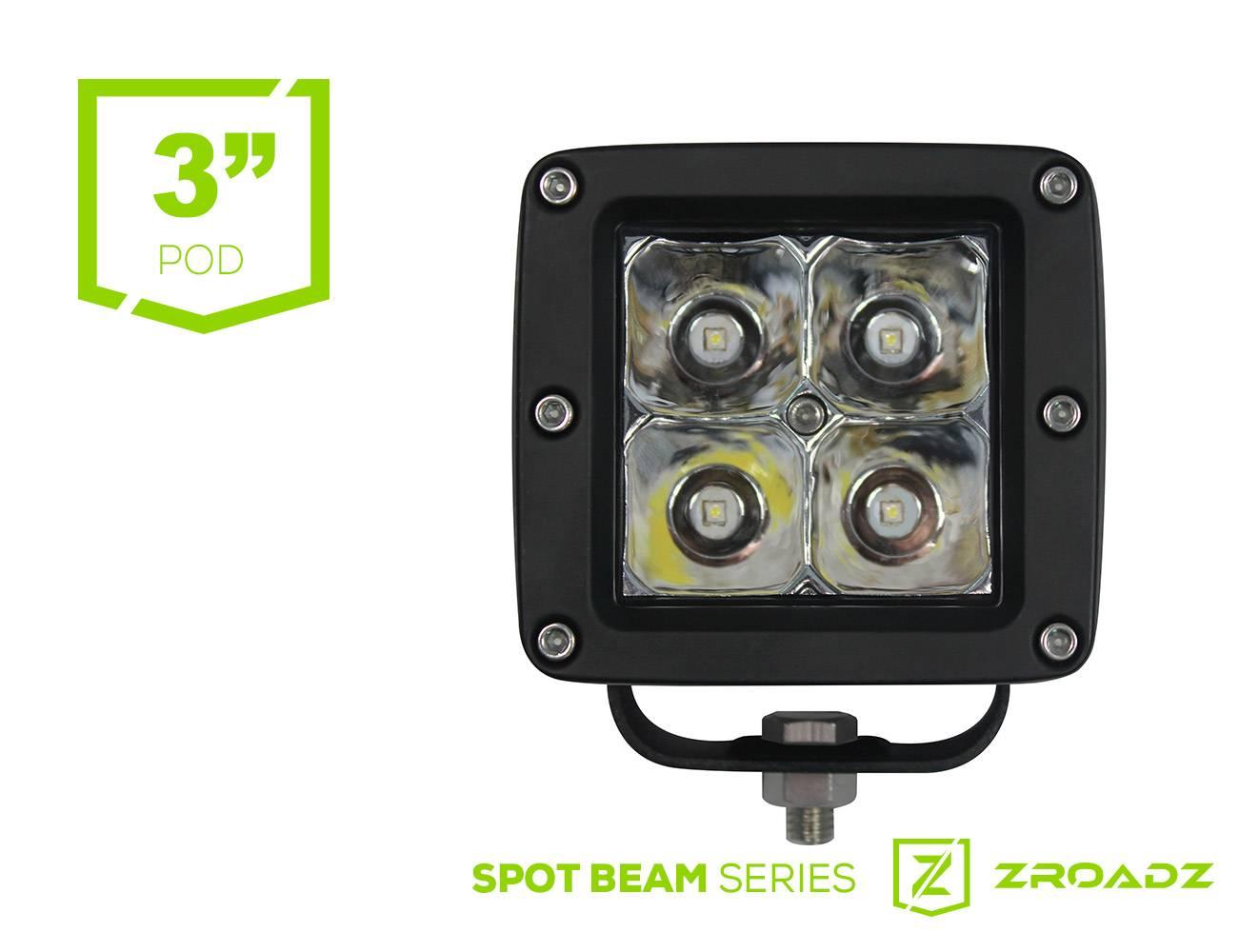 (1) 3 Inch LED Flood Beam Pod Lights - PN #Z30BC14W20