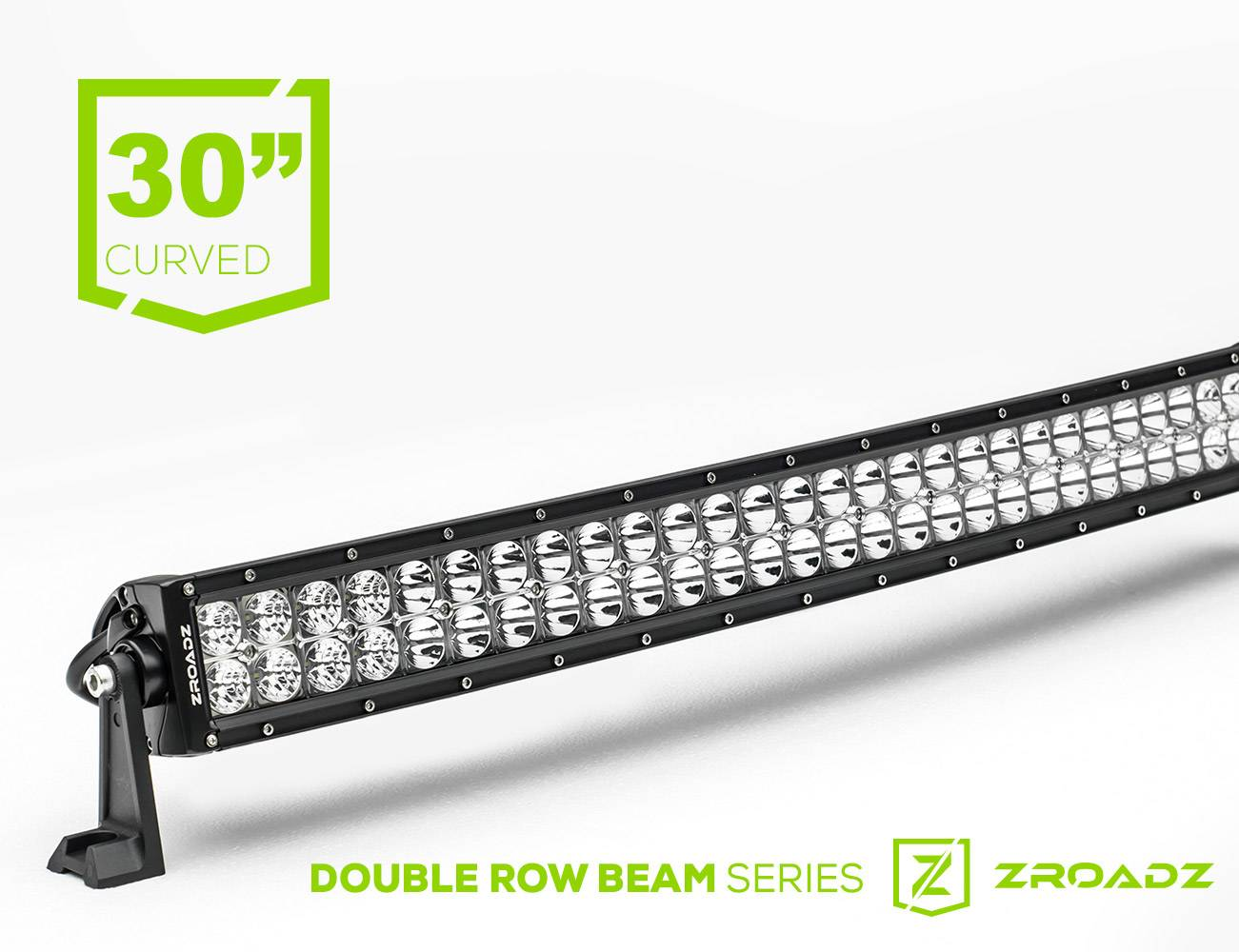 (1) 30 Inch LED Curved Double Row Light Bar - PN #Z30CBC14W180
