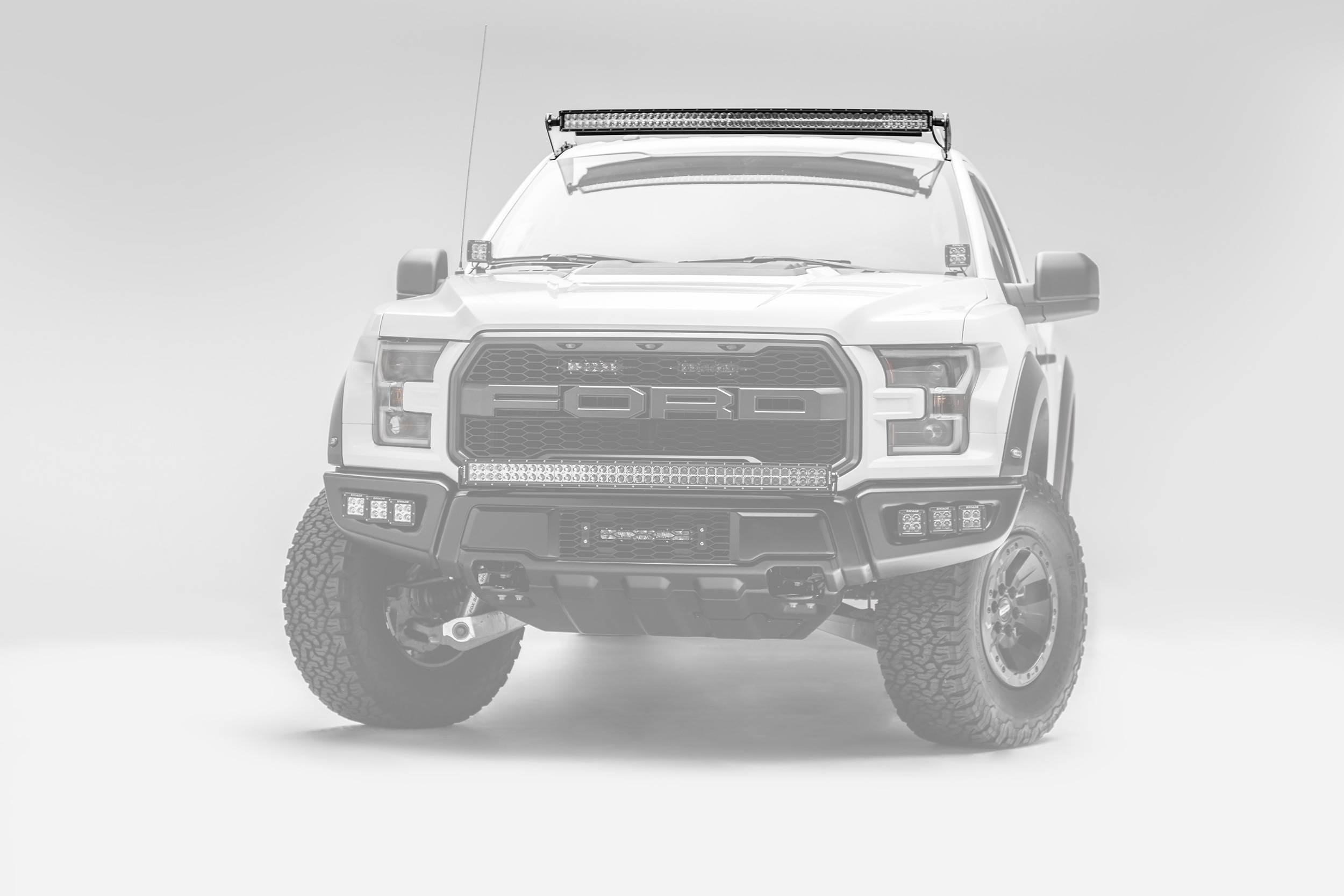 2015-2019 Ford F-150, Raptor Front Roof LED Kit, Incl. (1) 52 Inch LED Curved Double Row Light Bar - PN #Z335662-KIT-C