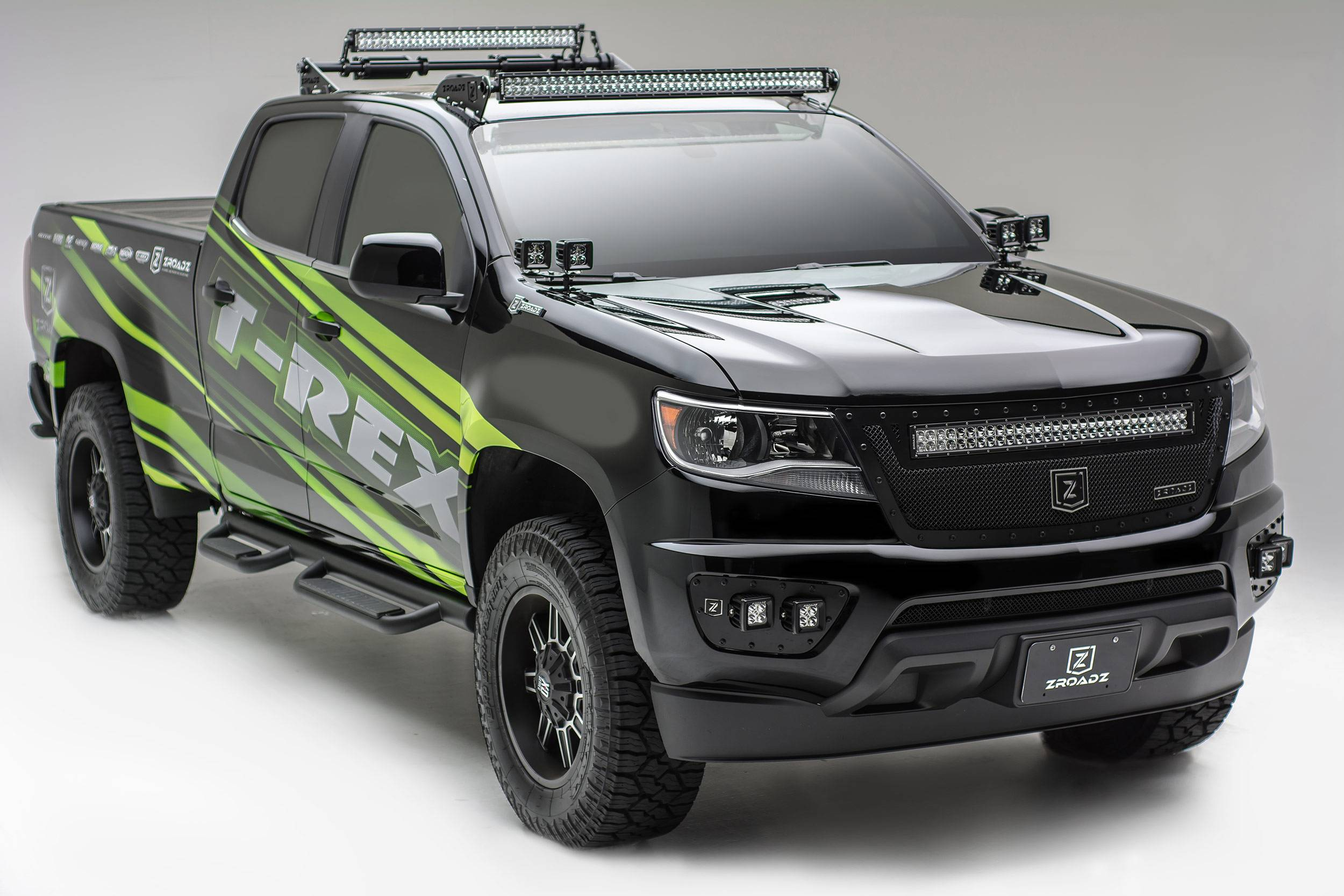 Chevy Colorado 2015-2019 led light bar brackets for 50 inch curved