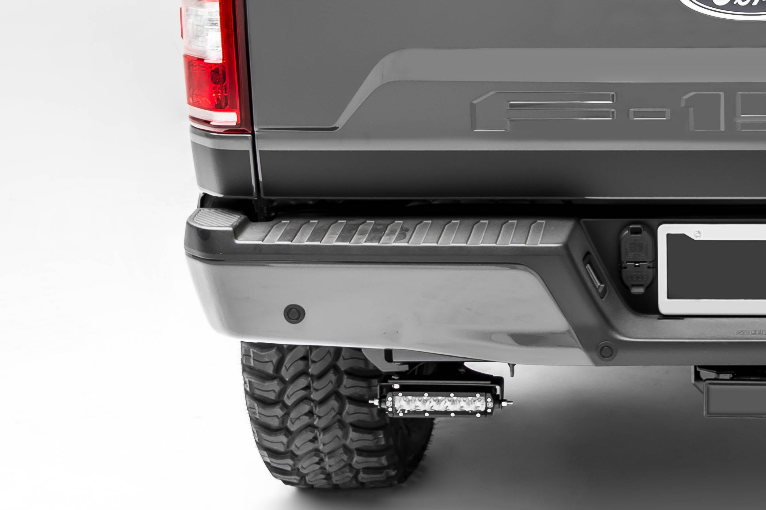 ZROADZ                                             - Ford F-150, Raptor Rear Bumper LED Bracket to mount (2) 6 Inch Straight Light Bar - PN #Z385662