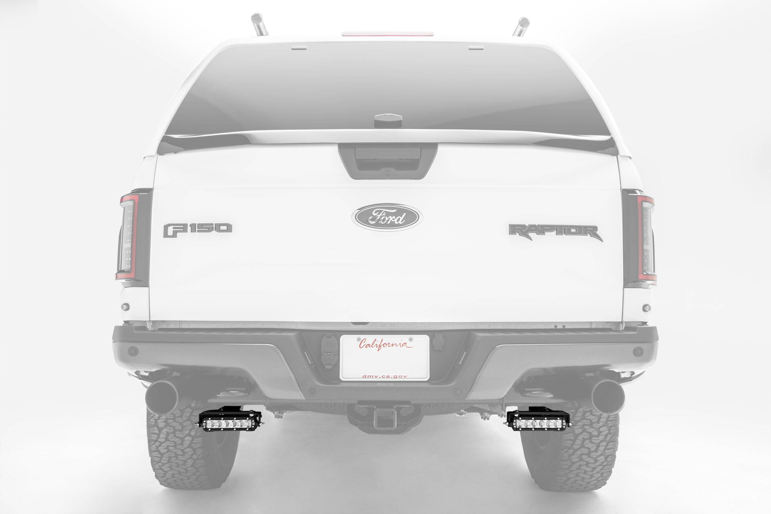 ZROADZ                                             - Ford Rear Bumper LED Kit, Incl. (2) 6 Inch LED Straight Single Row Slim Light Bars - PN #Z385662-KIT