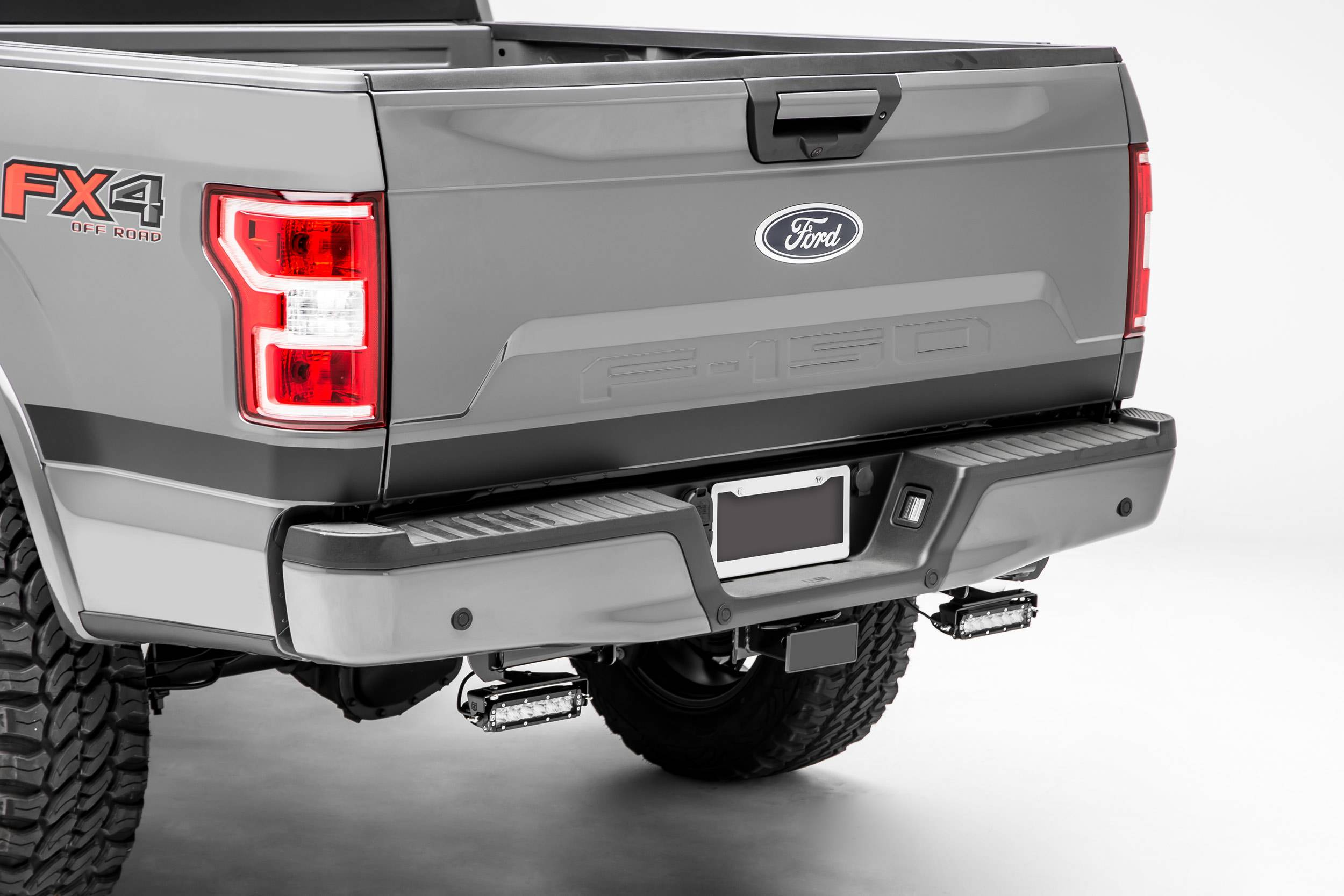 ZROADZ                                             - Ford F-150, Raptor Rear Bumper LED Kit with (2) 6 Inch LED Straight Single Row Slim Light Bars - PN #Z385662-KIT