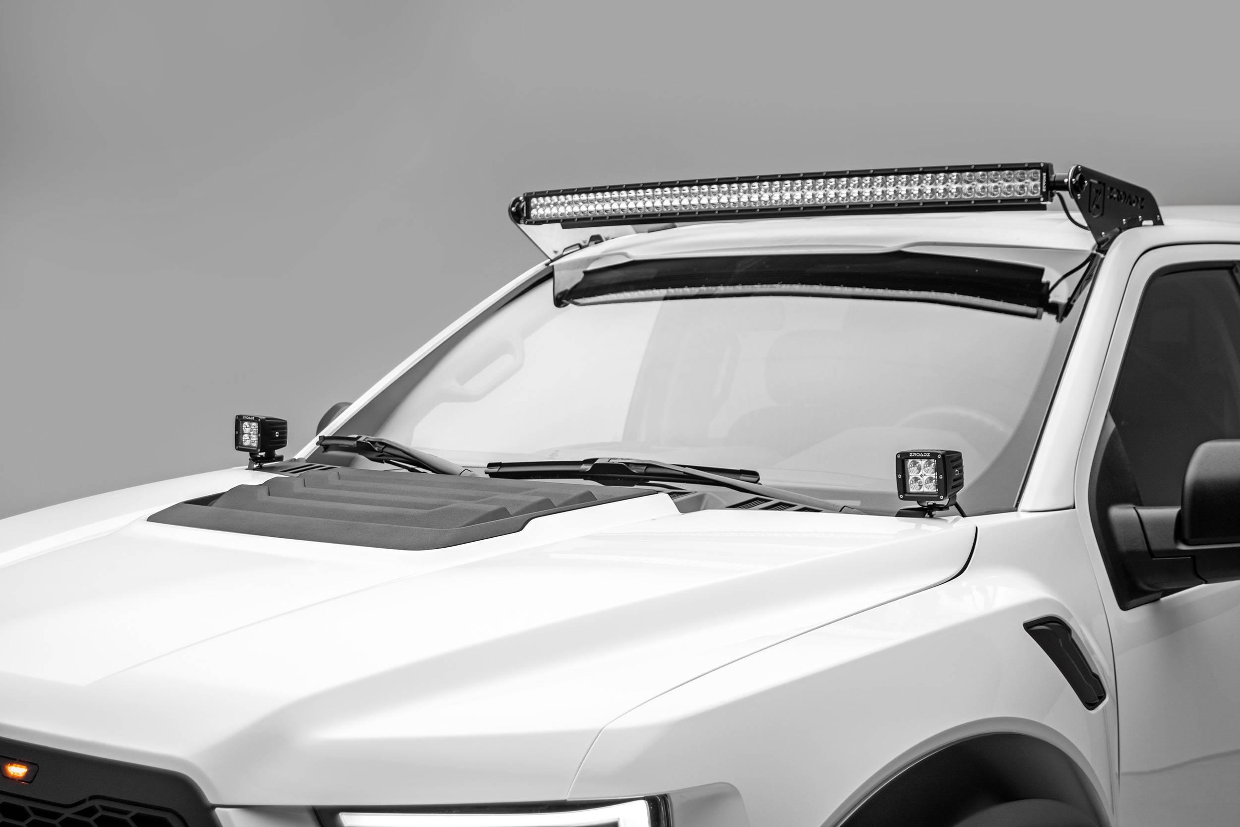ZROADZ                                             - 2015-2020 Ford F-150, Raptor Front Roof LED Bracket to mount 52 Inch Curved LED Light Bar - PN #Z335662