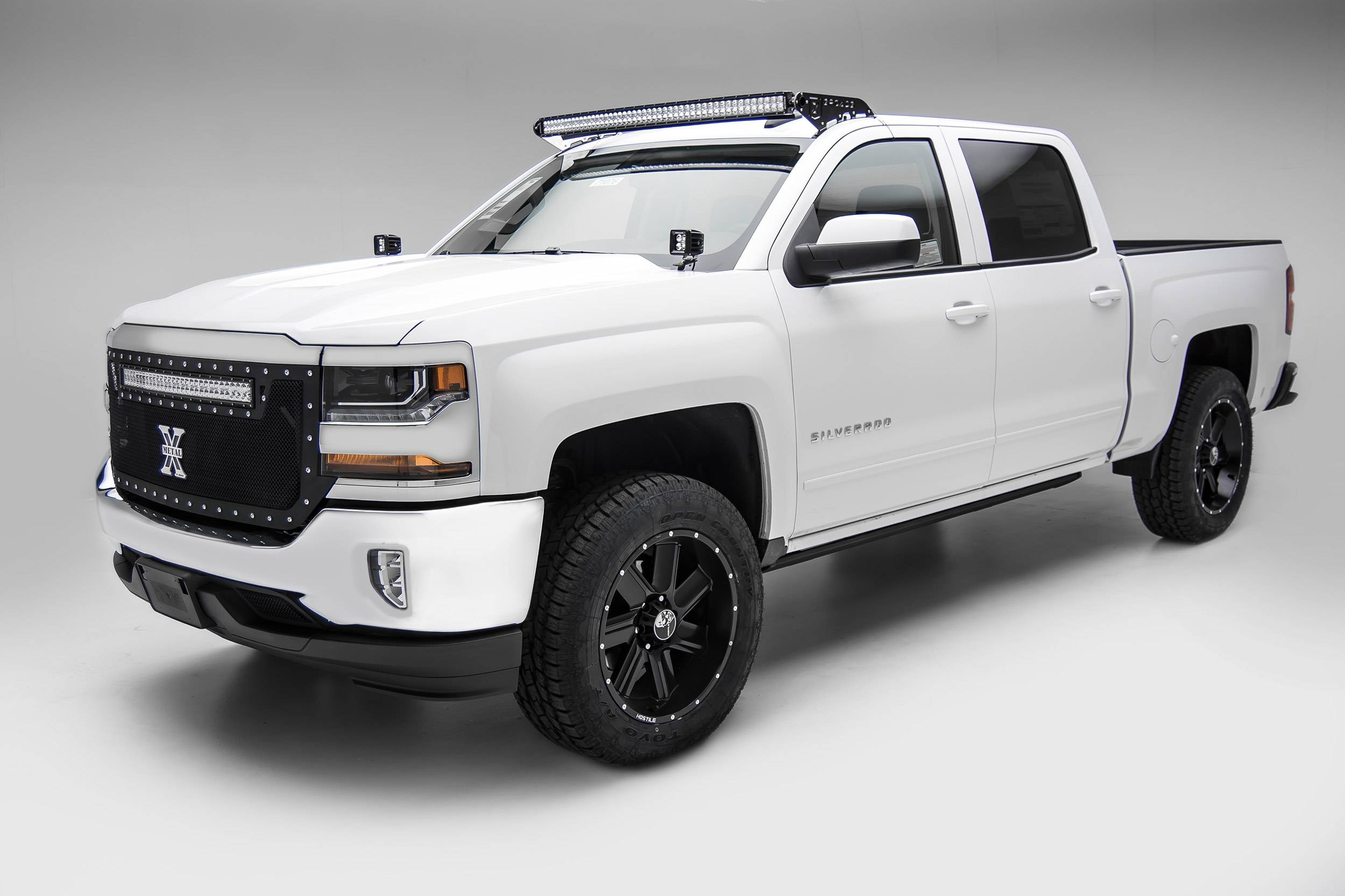 ZROADZ                                             - Silverado, Sierra Front Roof LED Kit, Incl. 50 Inch LED Curved Double Row Light Bar - PN #Z332081-KIT-C