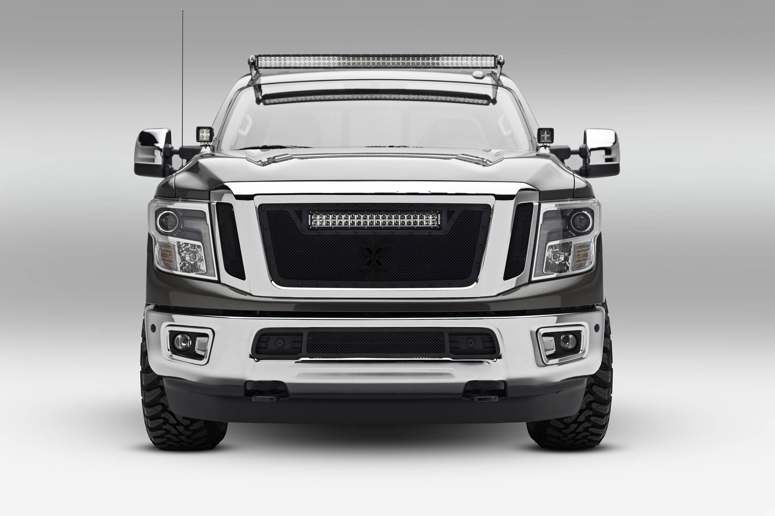 2016-2019 Nissan Titan Front Roof LED Bracket to mount (1) 50 Inch Staight LED Light Bar - PN #Z337181