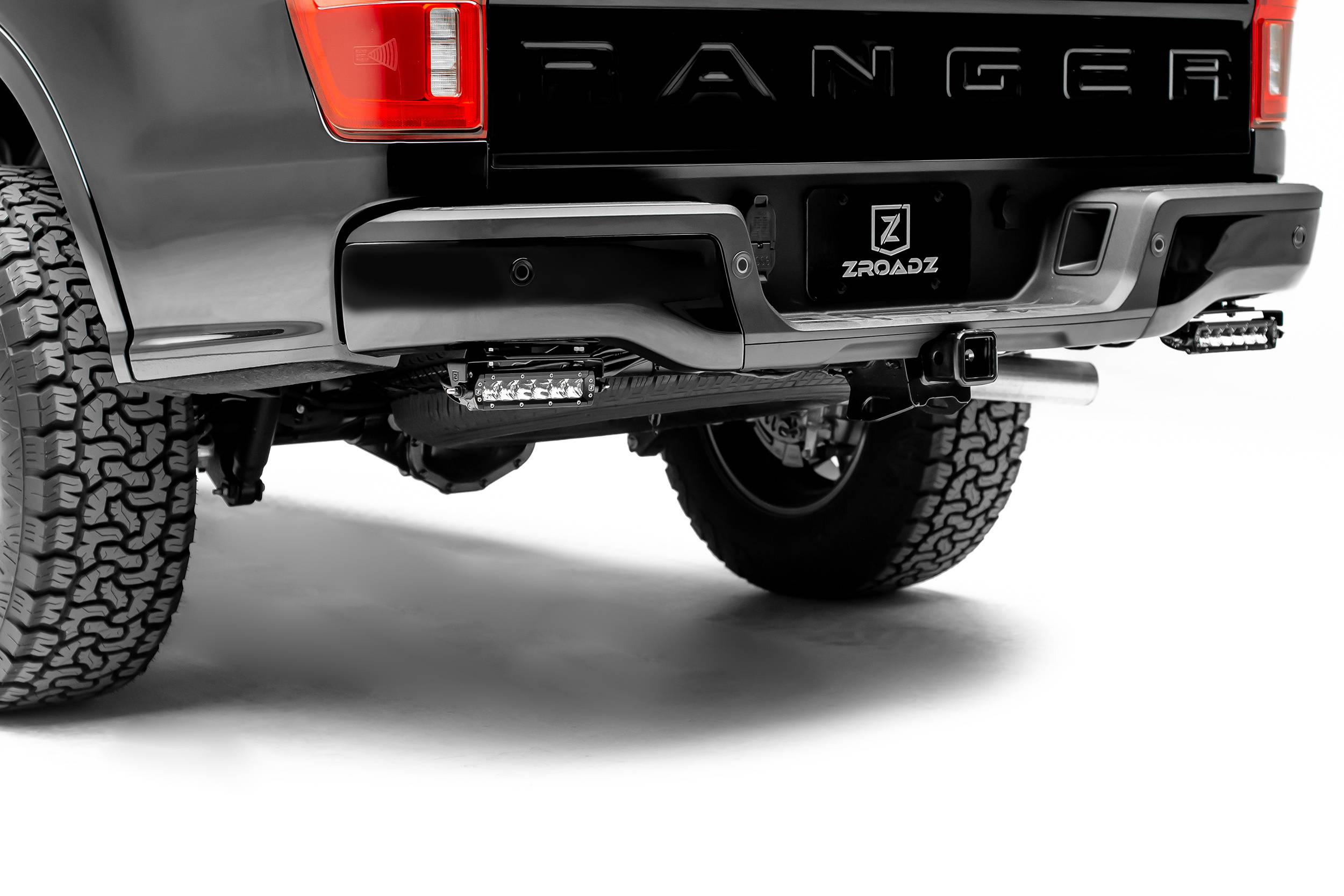 ZROADZ                                             - 2019-2021 Ford Ranger Rear Bumper LED Kit with (2) 6 Inch LED Straight Single Row Slim Light Bars - PN #Z385881-KIT
