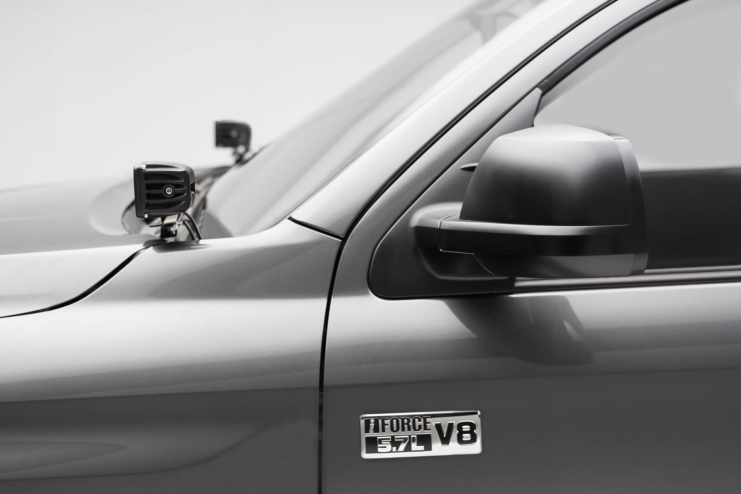 ZROADZ                                             - 2014-2021 Toyota Tundra Hood Hinge LED Bracket to mount (2) 3 Inch LED Pod Lights - PN #Z369641