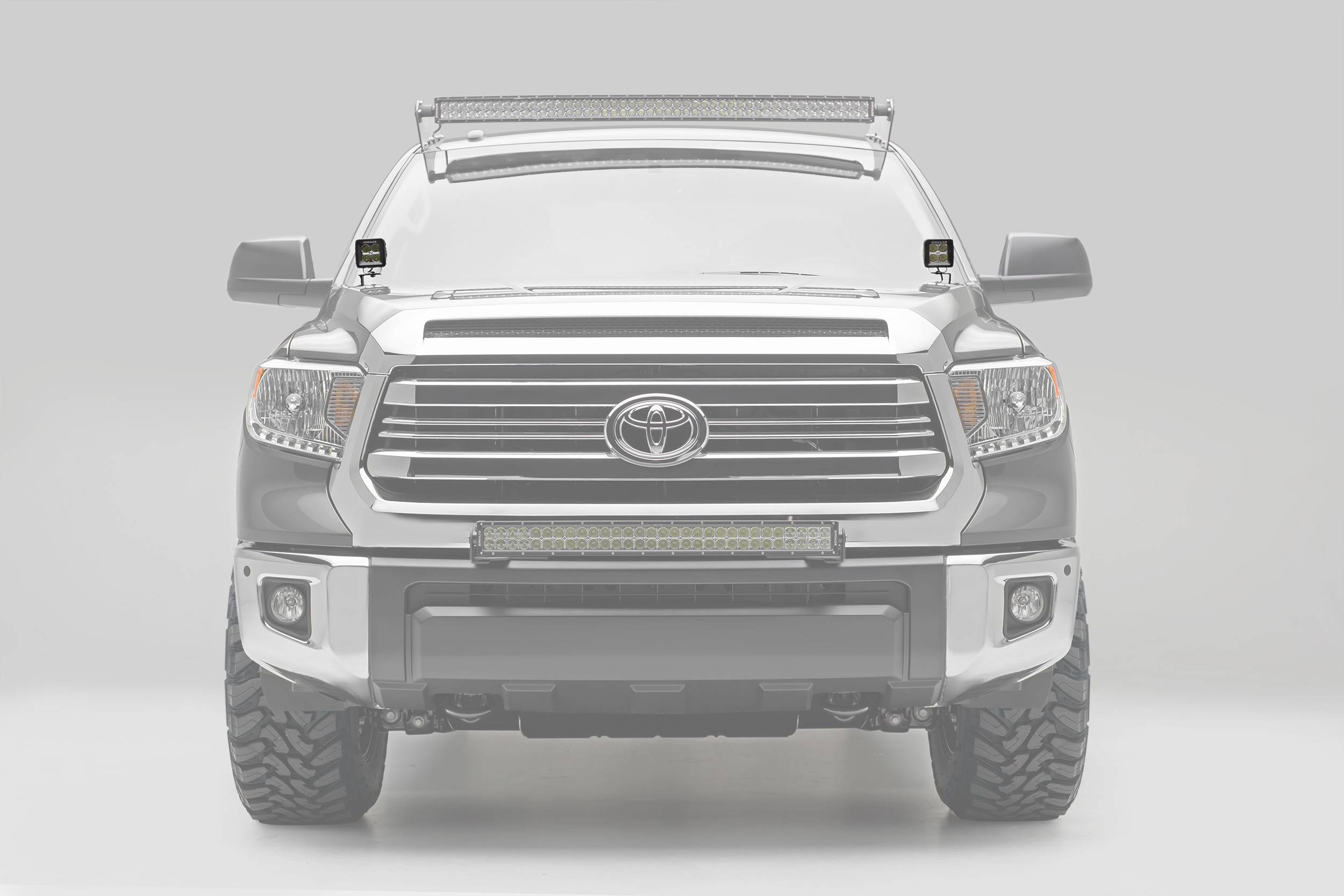 ZROADZ                                             - 2014-2020 Toyota Tundra Hood Hinge LED Kit, Incl. (2) 3 Inch LED Pod Lights - PN #Z369641-KIT2