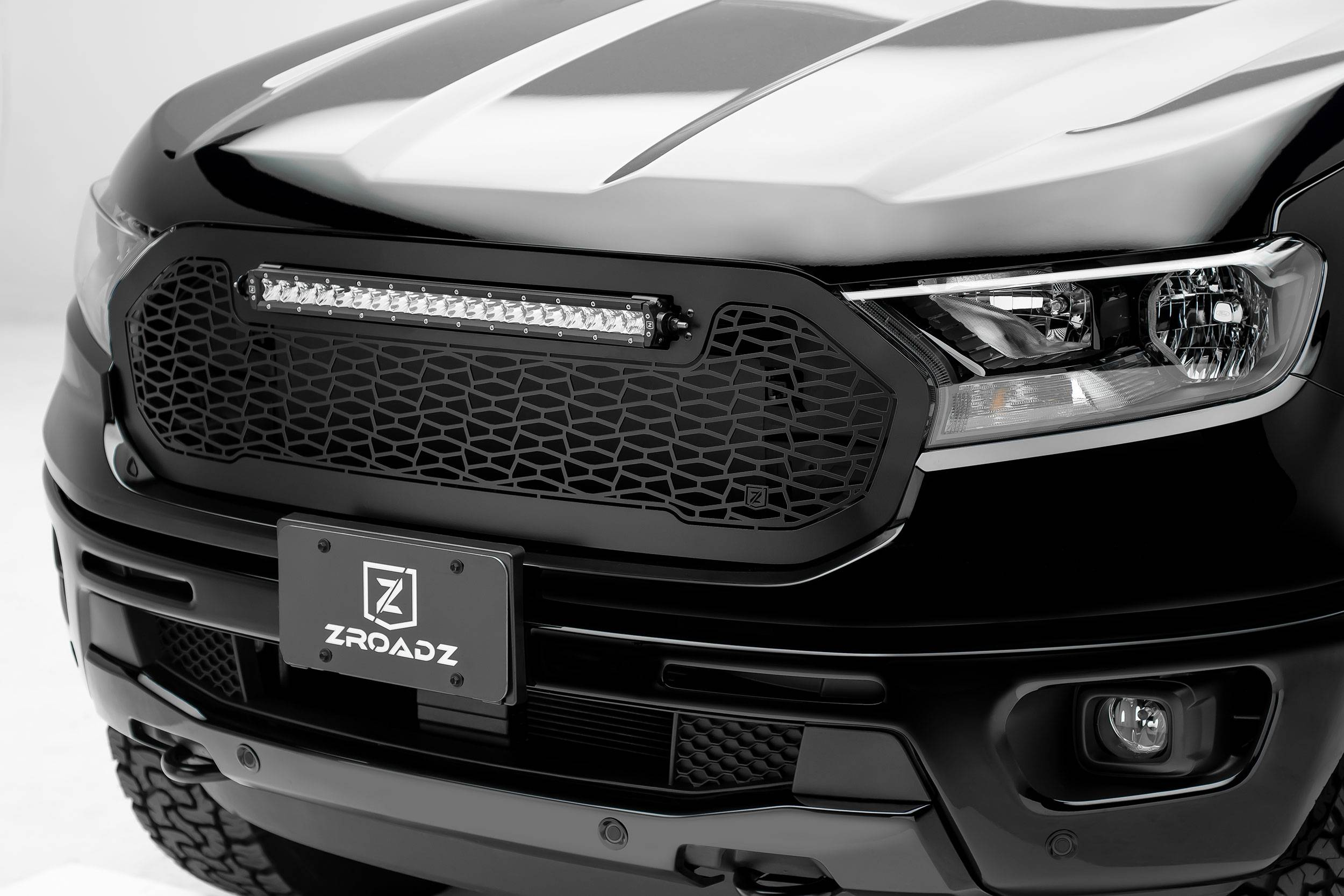 "T-REX GRILLES - 2019-2020 Ford Ranger ZROADZ Grille 1 Pc Replacement Incl. (1) 20"" LED - PN #Z315821"