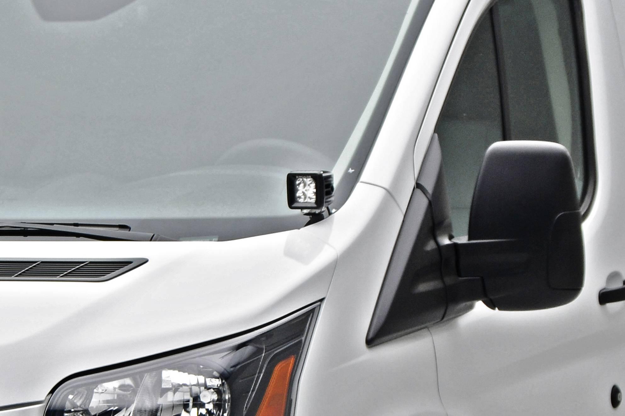 ZROADZ                                             - 2015-2018 Ford Transit Hood Hinge LED Kit with (2) 3 Inch LED Pod Lights - PN #Z365751-KIT2