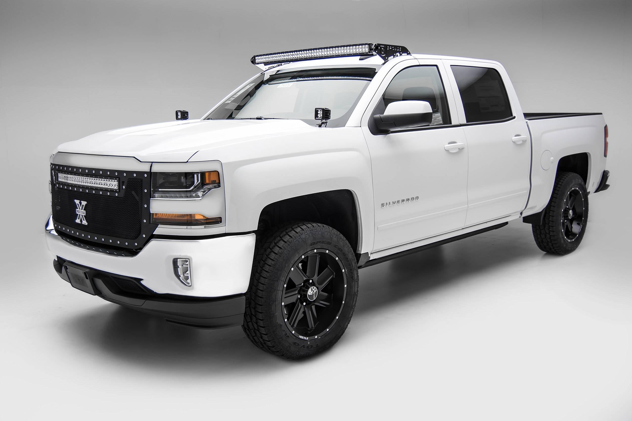 ZROADZ                                             - Silverado, Sierra Front Roof LED Bracket to mount 50 Inch Curved LED Light Bar - PN #Z332281