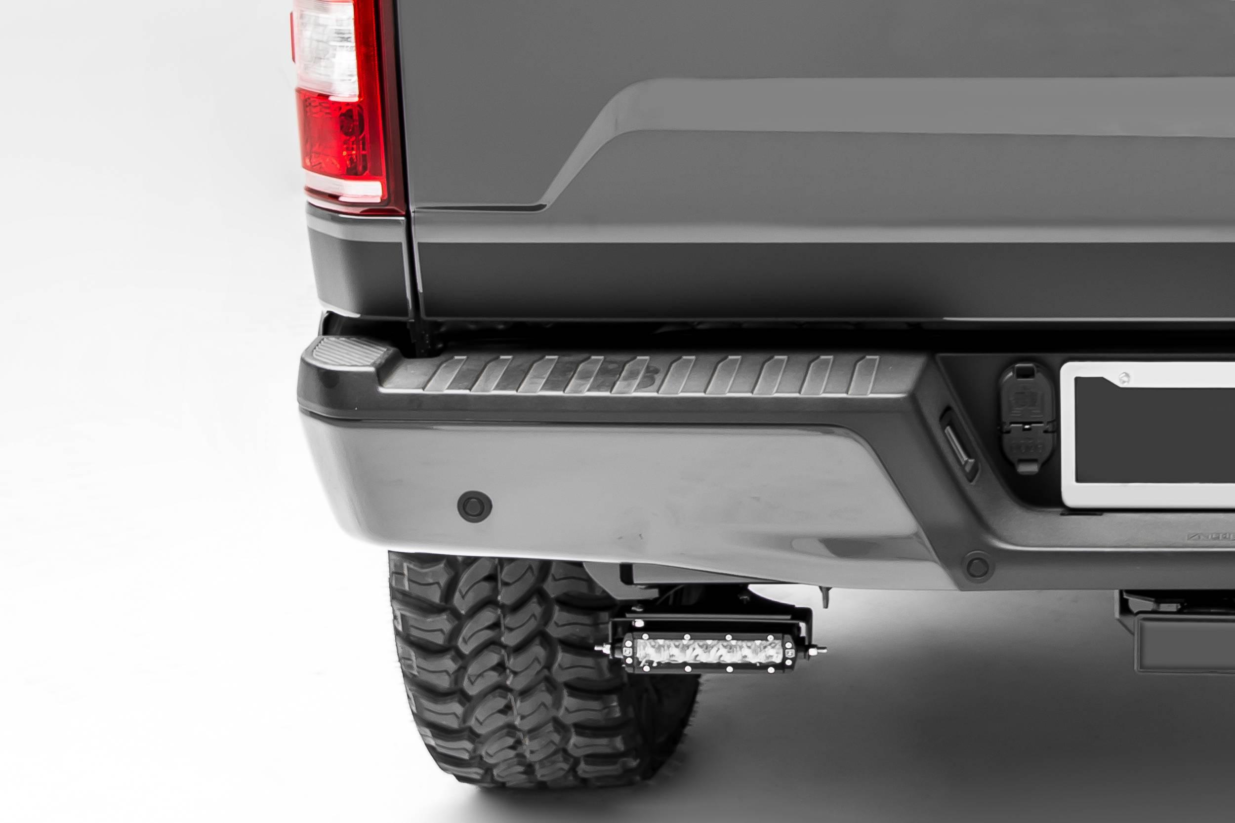 ZROADZ                                             - 2018-2021 Ford Rear Bumper LED Bracket to mount (2) 6 Inch Straight Light Bar - PN #Z385662