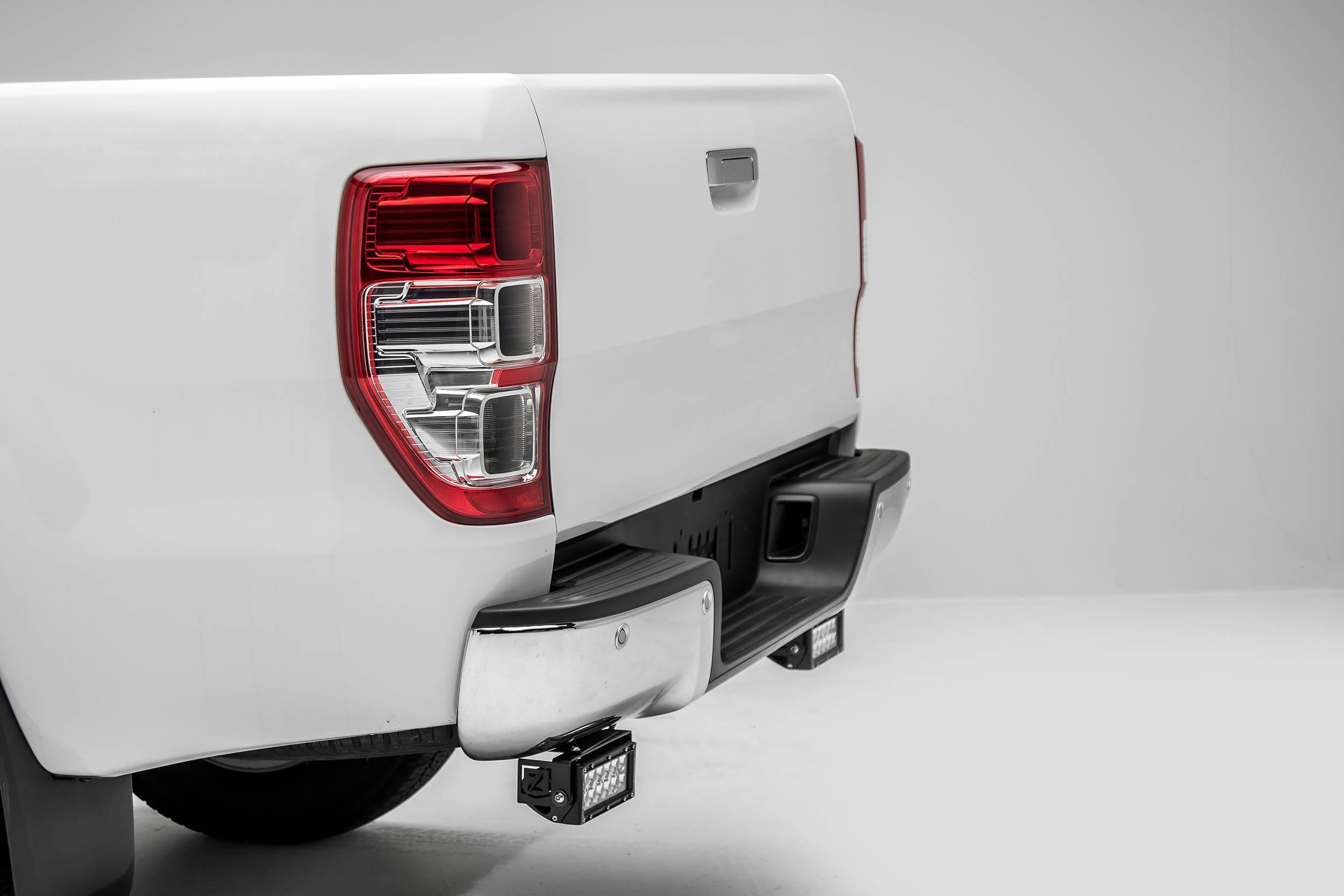 ZROADZ                                             - 2015-2018 Ford Ranger T6 Rear Bumper LED Kit with (2) 6 Inch LED Straight Double Row Light Bars - PN #Z385761-KIT