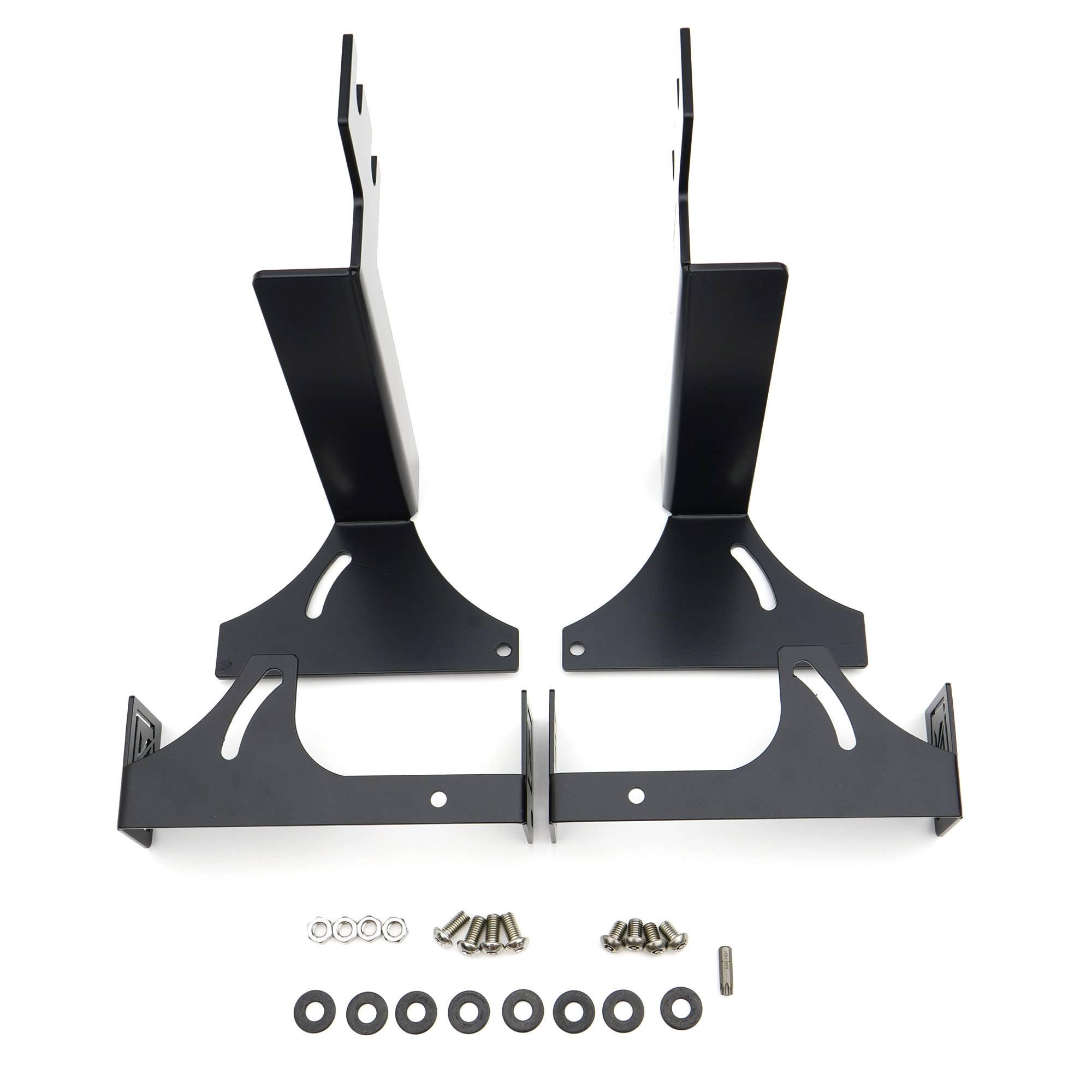ZROADZ OFF ROAD PRODUCTS - 2015-2019 Silverado, Sierra HD Non-Diesel models - Rear Bumper LED Bracket to mount (2) 6 Inch Straight Light Bar - PN #Z381221