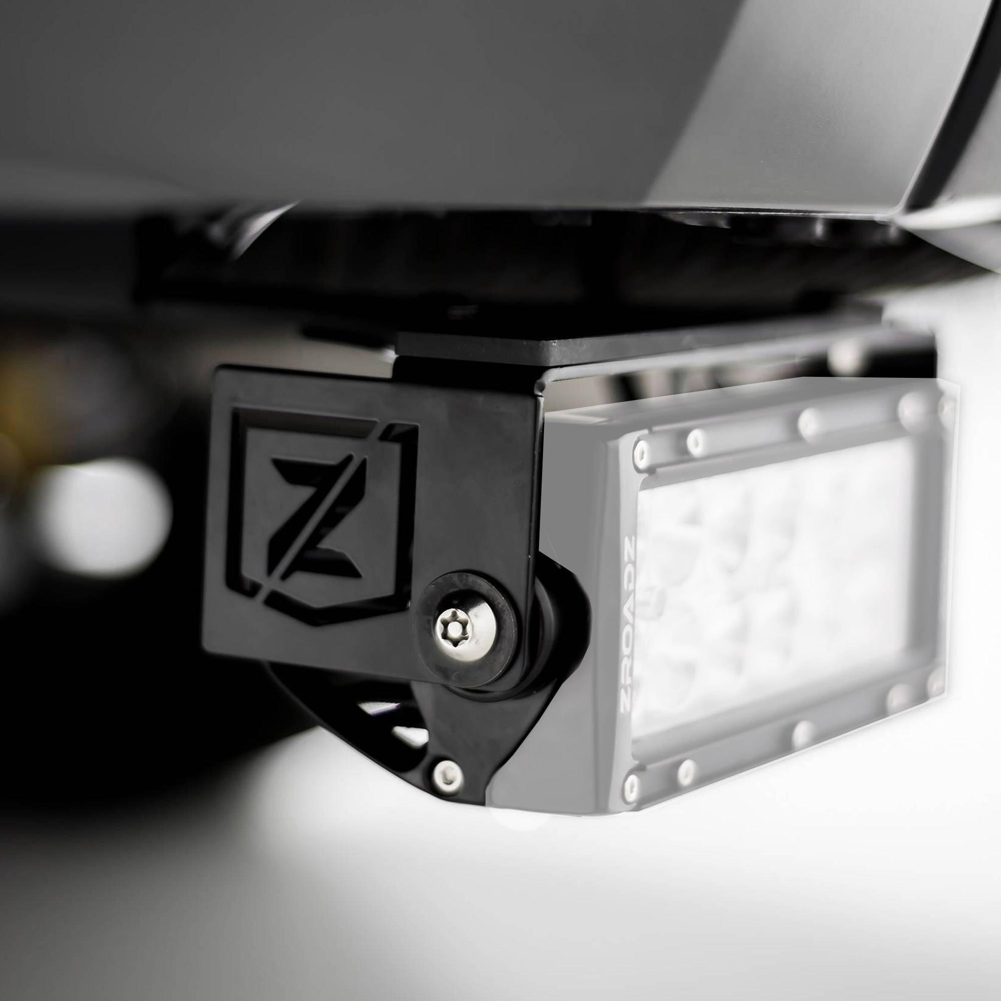 ZROADZ OFF ROAD PRODUCTS - 2014-2021 Toyota Tundra Rear Bumper LED Bracket to mount (2) 6 Inch Straight Light Bar - PN #Z389641