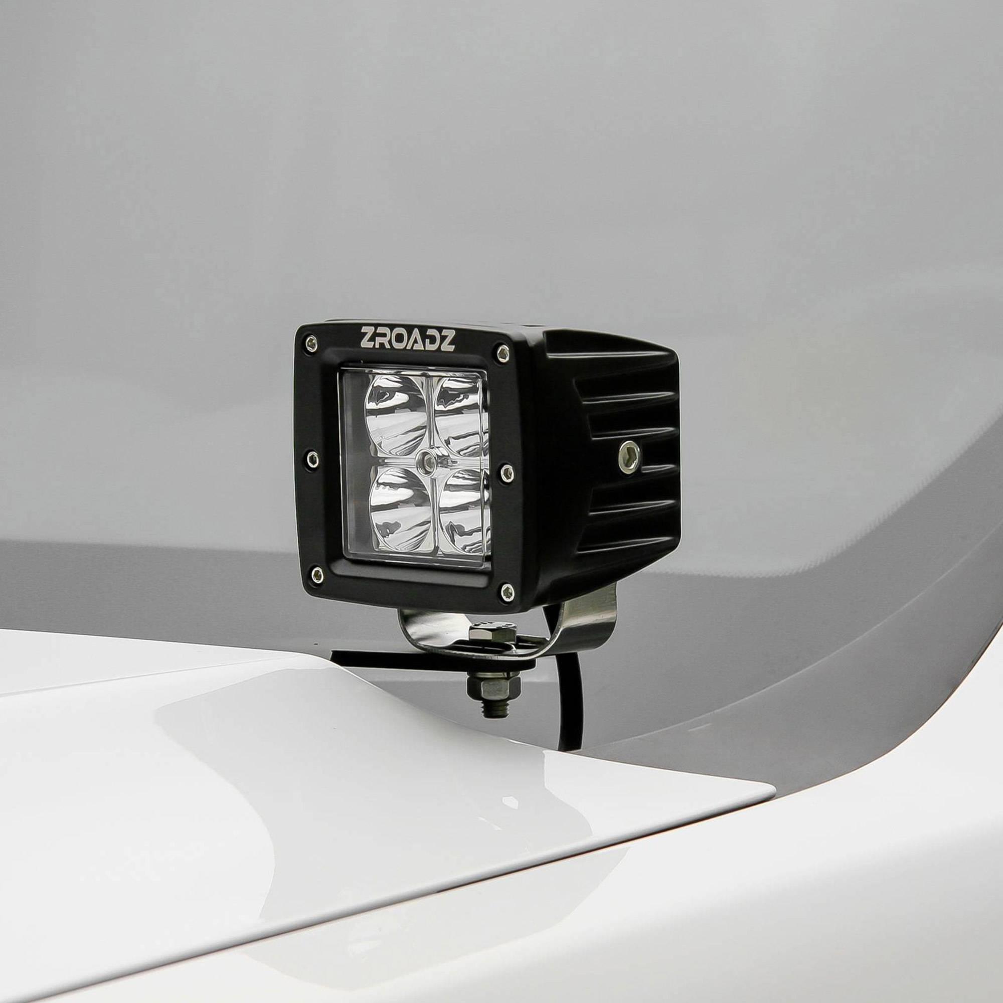 ZROADZ                                             - 2011-2016 Ford Super Duty Hood Hinge LED Kit with (2) 3 Inch LED Pod Lights - PN #Z365461-KIT2