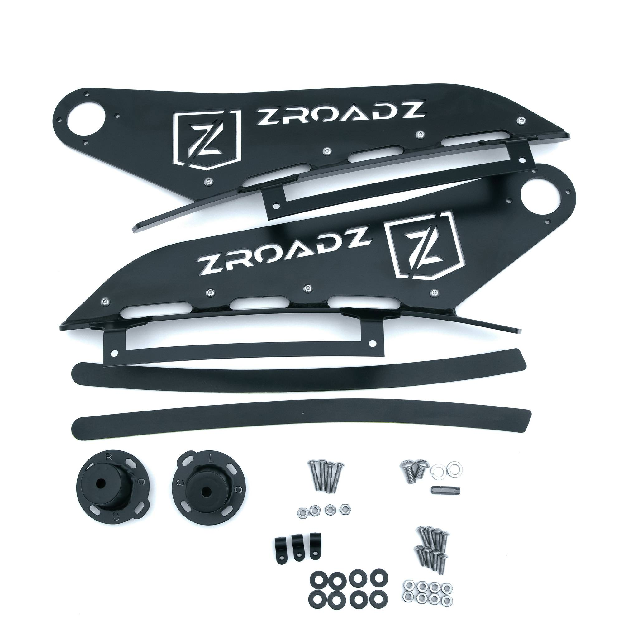ZROADZ OFF ROAD PRODUCTS - 2007-2013 Silverado, Sierra 1500 Front Roof LED Bracket to mount (1) 50 Inch Curved LED Light Bar - PN #Z332051