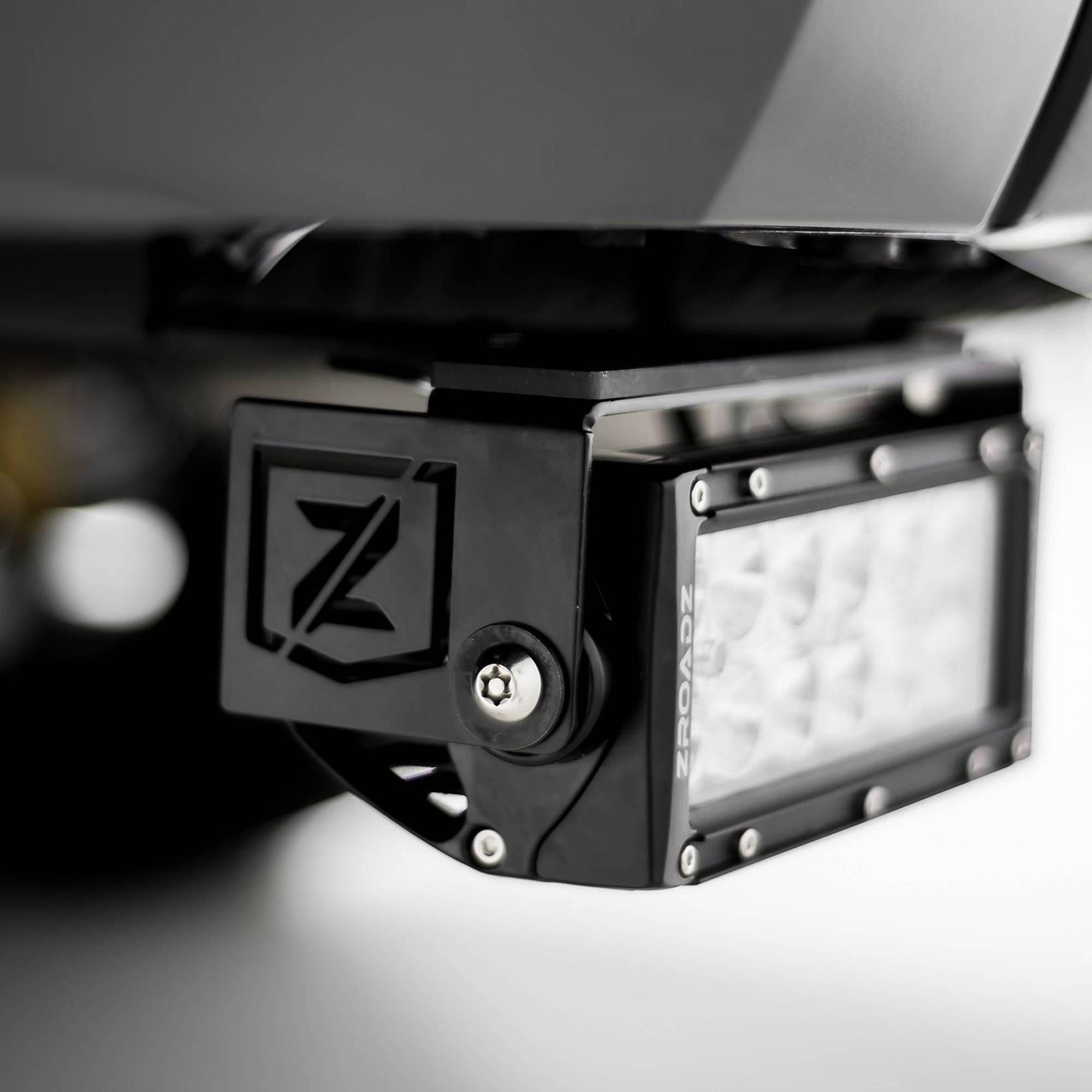ZROADZ                                             - 2014-2021 Toyota Tundra Rear Bumper LED Kit with (2) 6 Inch LED Straight Double Row Light Bars - PN #Z389641-KIT