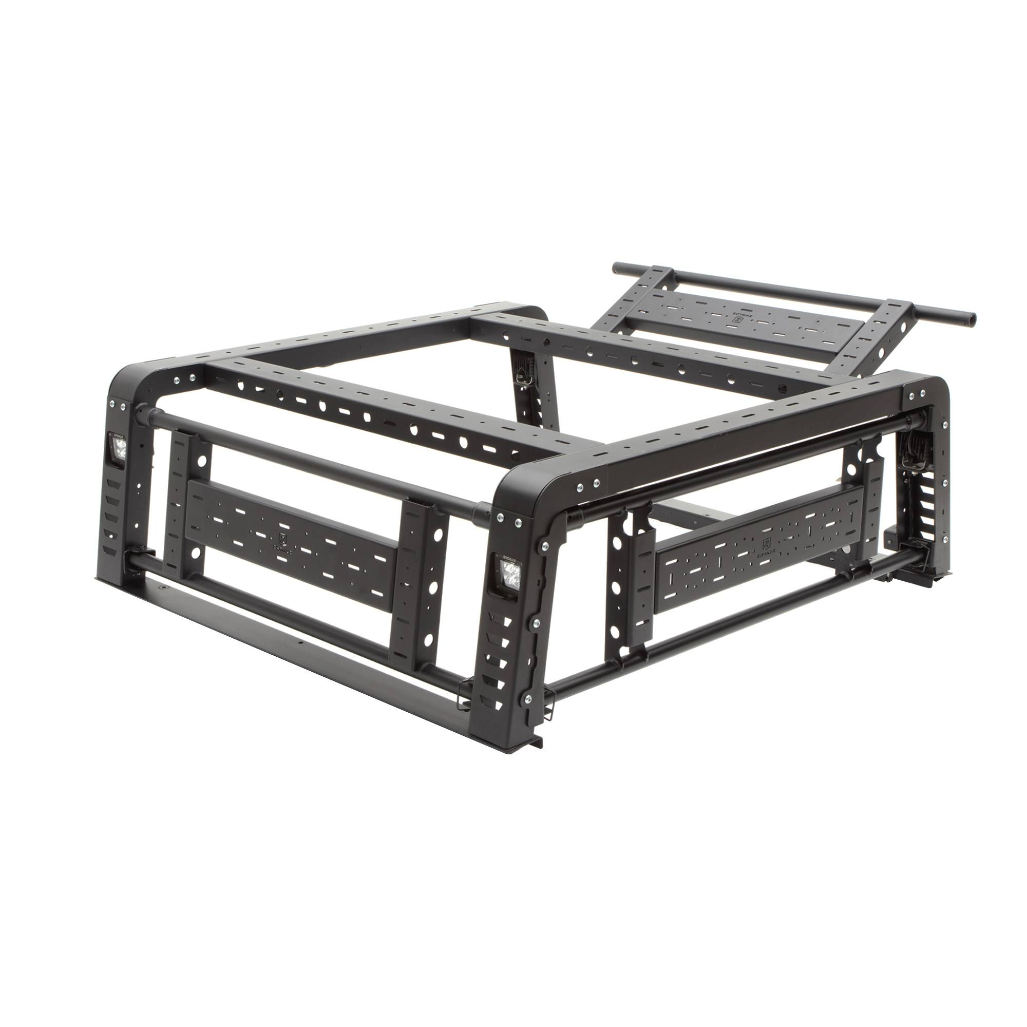 ZROADZ OFF ROAD PRODUCTS - 2016-2021 Toyota Tacoma Access Overland Rack With Three Lifting Side Gates - PN #Z839201