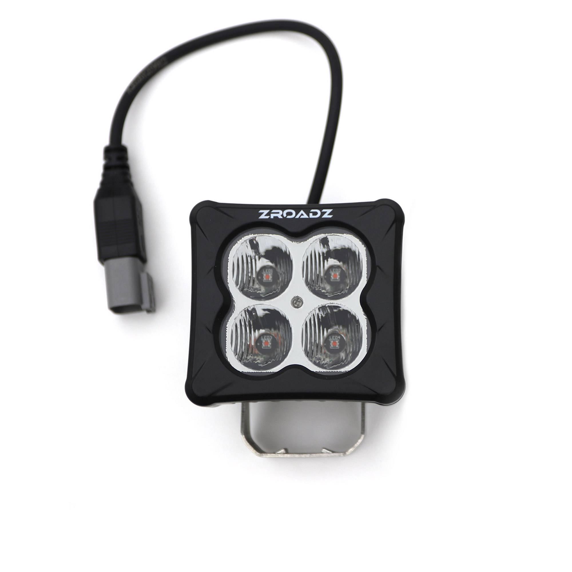 ZROADZ OFF ROAD PRODUCTS - 3 inch ZROADZ LED Light Pod, G2 Series, Amber, Flood Beam, 1 Piece - PN #Z30BC12W-D3A