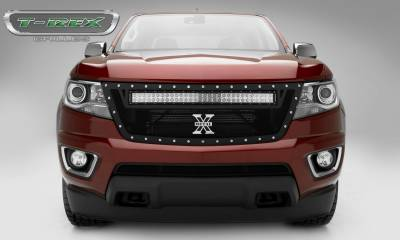 "T-REX GRILLES - 2015-2020 Colorado Torch Grille, Black, 1 Pc, Replacement, Chrome Studs with (1) 30"" LED - PN #6312671 - Image 4"