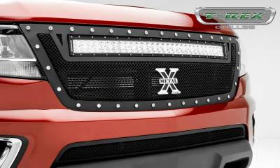 "T-REX GRILLES - 2015-2020 Colorado Torch Grille, Black, 1 Pc, Replacement, Chrome Studs with (1) 30"" LED - PN #6312671 - Image 5"