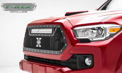 "2016-2017 Tacoma Torch Grille, Black, 1 Pc, Insert, Chrome Studs, Incl. (1) 20"" LED - PN #6319411 - Image 2"