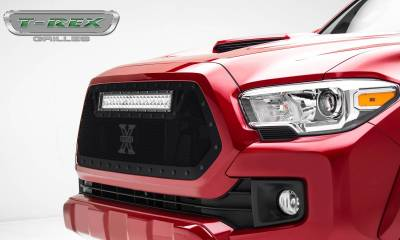 "2016-2017 Tacoma Stealth Torch Grille, Black, 1 Pc, Insert, Black Studs, Incl. (1) 20"" LED - PN #6319411-BR - Image 2"