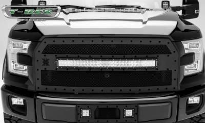 "2015-2017 F-150 Stealth Torch Grille, Black, 1 Pc, Replacement, Black Studs, Incl. (1) 30"" LED, Fits Vehicles with Camera - PN #6315741-BR - Image 1"