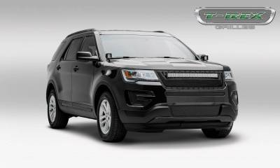 "T-REX GRILLES - 2016-2017 Explorer Stealth Torch Grille, Black, 1 Pc, Replacement, Black Studs with (1) 30"" LED - PN #6316641-BR - Image 5"