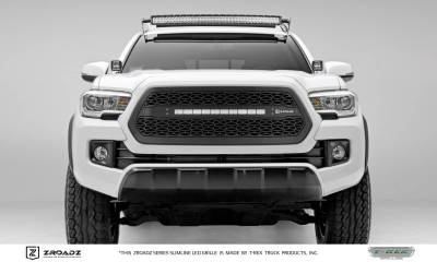 "T-REX GRILLES - 2016-2017 Tacoma ZROADZ Grille, Black, 1 Pc, Insert with (1) 20"" LED - PN #Z319411 - Image 1"