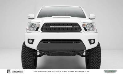 "T-REX GRILLES - 2012-2015 Tacoma ZROADZ Grille, Black, 1 Pc, Insert with (1) 20"" LED - PN #Z319381 - Image 1"