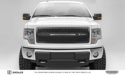 "T-REX GRILLES - 2009-2012 F-150 ZROADZ Grille, Black, 1 Pc, Insert with (1) 20"" LED - PN #Z315681 - Image 1"