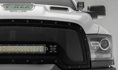 "T-REX GRILLES - 2015-2018 Ram 1500 Rebel Stealth Torch Grille, Black, 1 Pc, Replacement, Black Studs, Incl. (1) 20"" LED - PN #6314641-BR - Image 2"