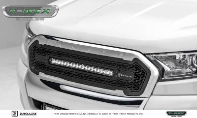 "T-REX GRILLES - 2015-2018 Ford Ranger T6 ZROADZ Grille, Black, 1 Pc, Insert with (1) 20"" LED - PN #Z315761 - Image 4"