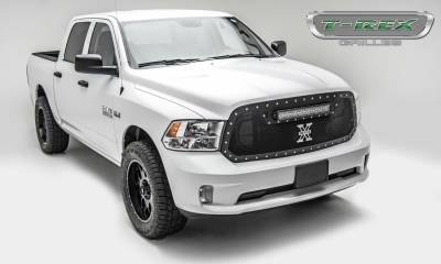 "2013-2018 Ram 1500 Torch Grille, Black, 1 Pc, Replacement, Chrome Studs, Incl. (1) 20"" LED - PN #6314541 - Image 3"