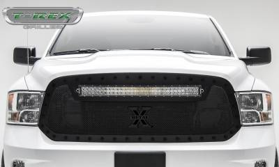 "2013-2018 Ram 1500 Stealth Torch Grille, Black, 1 Pc, Replacement, Black Studs, Incl. (1) 30"" LED - PN #6314551-BR - Image 2"