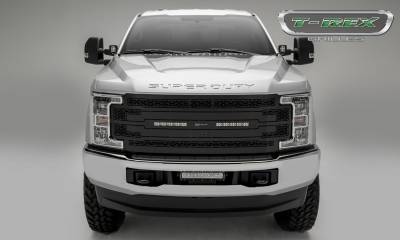"T-REX GRILLES - 2017-2019 Super Duty ZROADZ Grille, Black, 1 Pc, Replacement with (2) 10"" LEDs, Fits Vehicles with Camera - PN #Z315371 - Image 2"