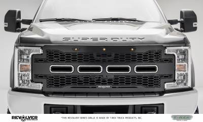 2017-2019 Super Duty Revolver Grille, Black, 1 Pc, Replacement, Chrome Studs, Fits Vehicles with Camera - PN #6515651 - Image 1